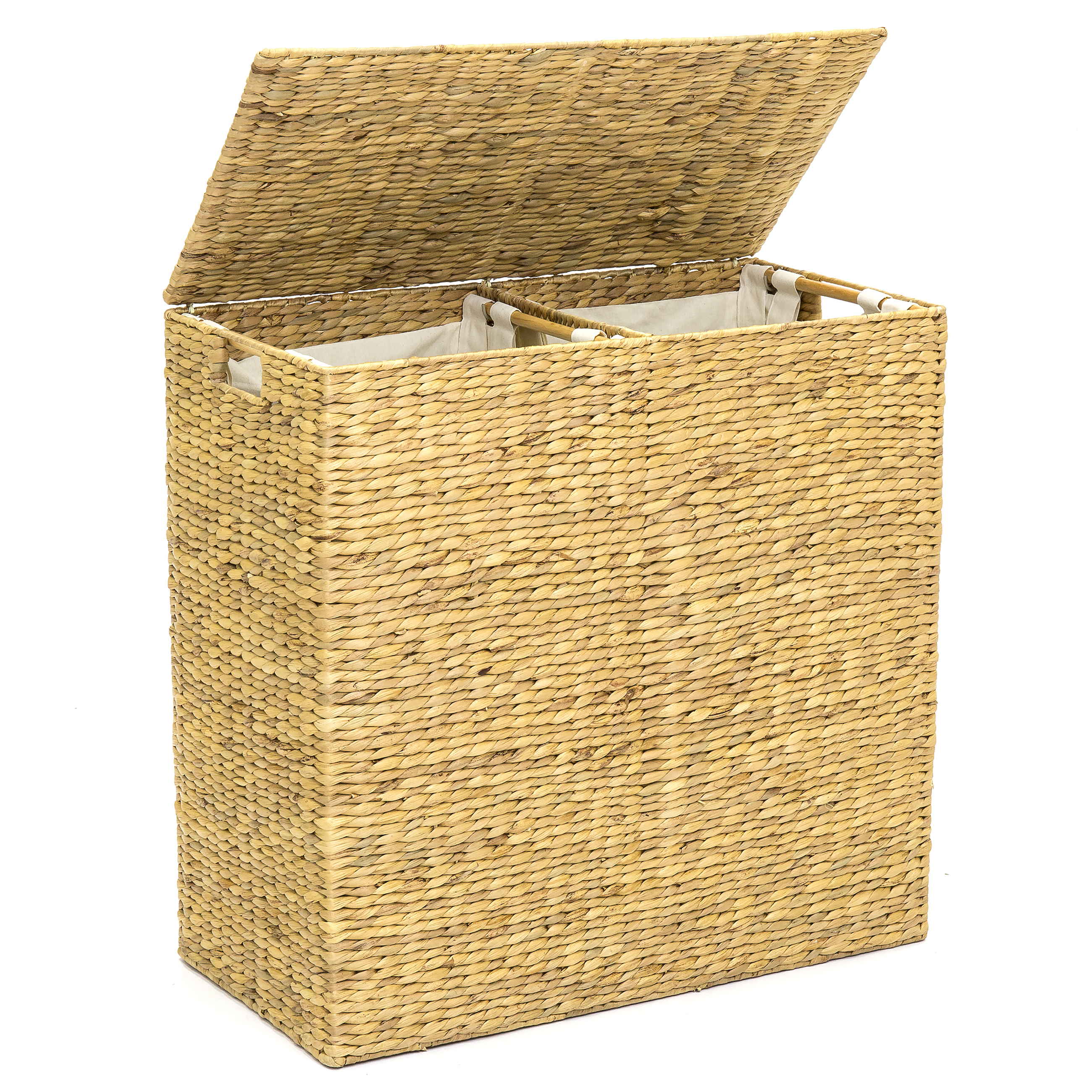 Best Choice Products Water Hyacinth Double Laundry Hamper