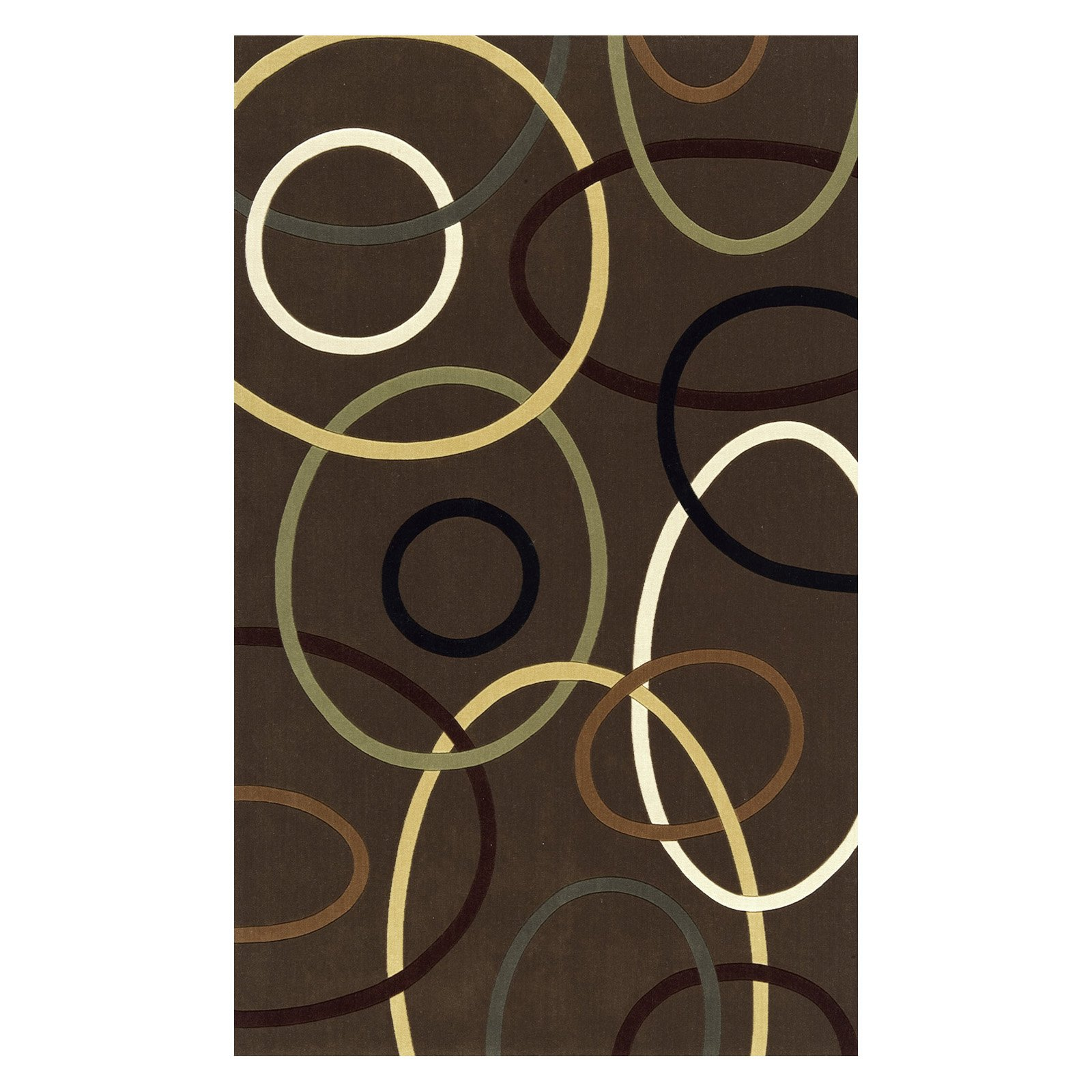 Momeni Elements Circular Envy Brown EL-09 Rug-9.6 x 13.6 ft. by Momeni