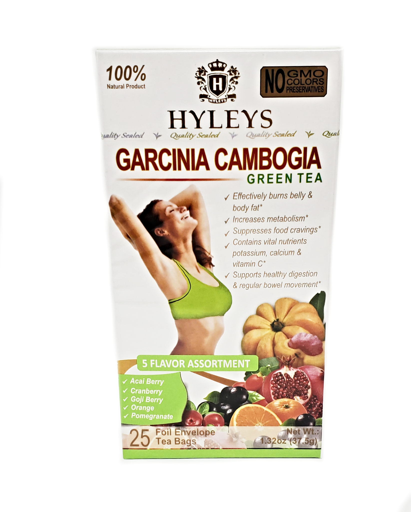 Hyleys Slim Tea Garcinia Cambogia 5 Flavor Assortment Tea 25