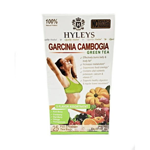 Hyleys Slim Tea Garcinia Cambogia 5 Flavor Assortment Tea 25