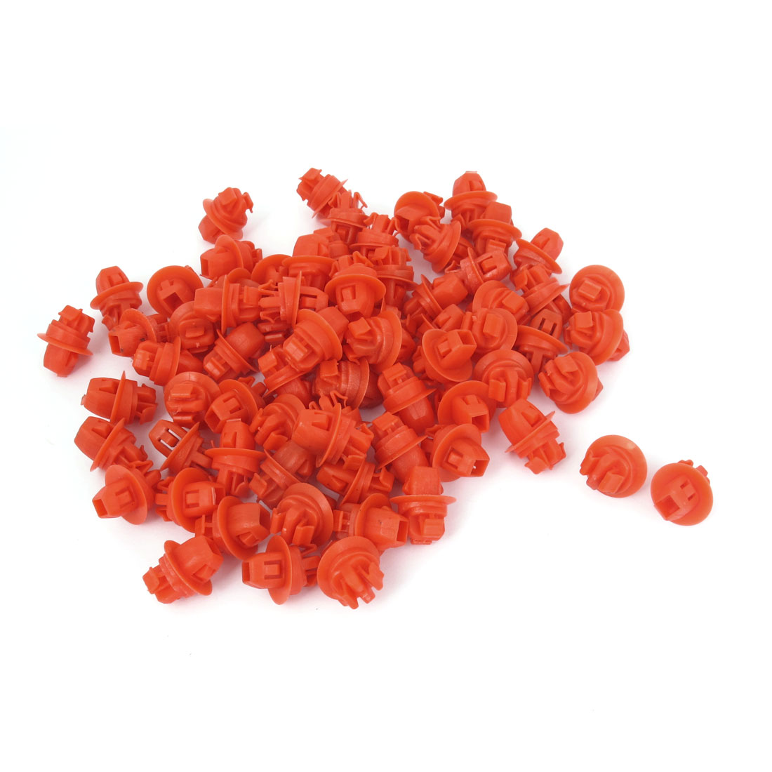 82 Pcs Red Push-Type Plastic Retainer Clips 10 x 16 x 9mm for Toyota