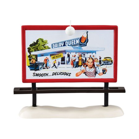 Department 56 Original Snow Village Dairy Queen Billboard Accessory  5 75   Department 56 Has Been Creating Seasonal Memories For Families Since 1976 By Department 56 Ship From Us