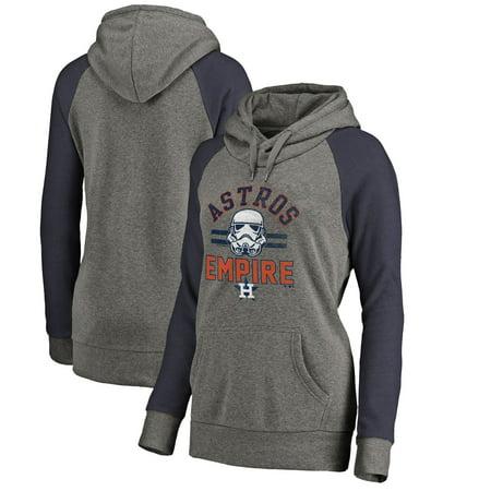 promo code 13786 883a1 Houston Astros Fanatics Branded Women's MLB Star Wars Empire Tri-Blend  Pullover Hoodie - Heather Gray
