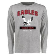 Eastern Washington Eagles Big & Tall Campus Icon Long Sleeve T-Shirt - Ash