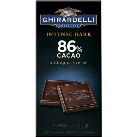 (3 Pack) Ghirardelliî Chocolate Intense Dark Midnight Reverieî 86% Cacao Chocolate 3.5 oz. Wrapper