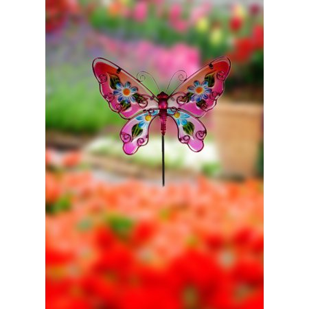 Creative Motion Butterfly Metal Garden Stakes - Butterfly Metal Garden