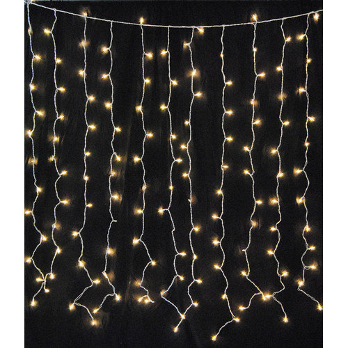 Queens of Christmas 150 Incandescent Curtain Light Twinkle