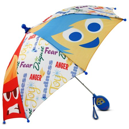 Disney Little Girls Inside Out Umbrella with Character Handle, Age 2-7 - Girl Disney Characters