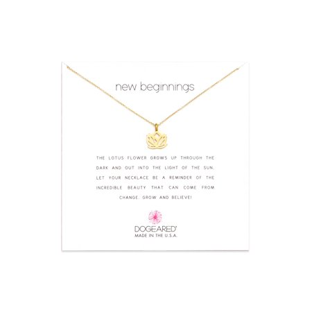 Dogeared Best Mom Necklace - Dogeared New Beginnings Lotus Gold Dipped Necklace