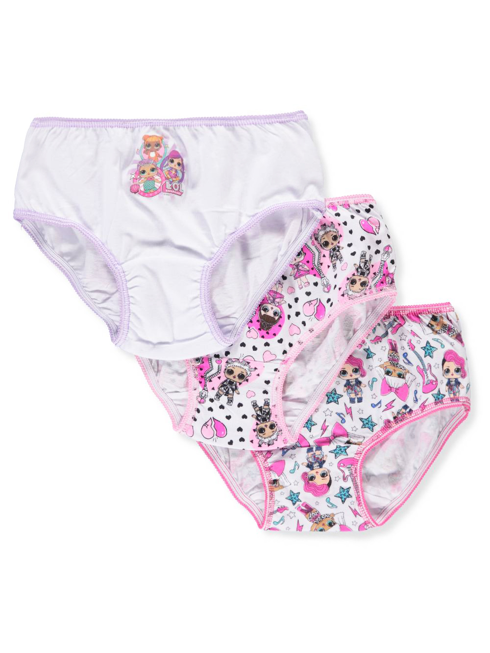 LOL Surprise Girls' 3-Pack Bikini Panties