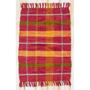 CLM Calypso Red Plaid Area Rug