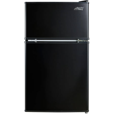 Arctic King 3.2 cu ft 2-Door Refrigerator, Black, Energy Star