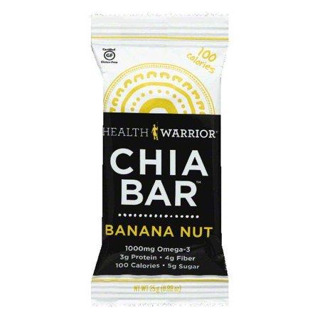 Health Warrior Bannan Nut Chia Bar, 0.88 OZ (Pack of 15)