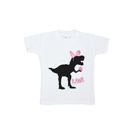 Custom Party Shop Baby Girls Dinosaur Happy Easter T-shirt - XL Youth (18-20) T-shirt](Hot Xl Girl)