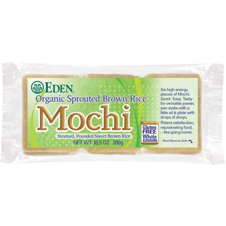 Eden Sprouted Brown Rice Mochi, Organic, 10.5 Ounce (Pack of (Eden Organic Brown Rice)