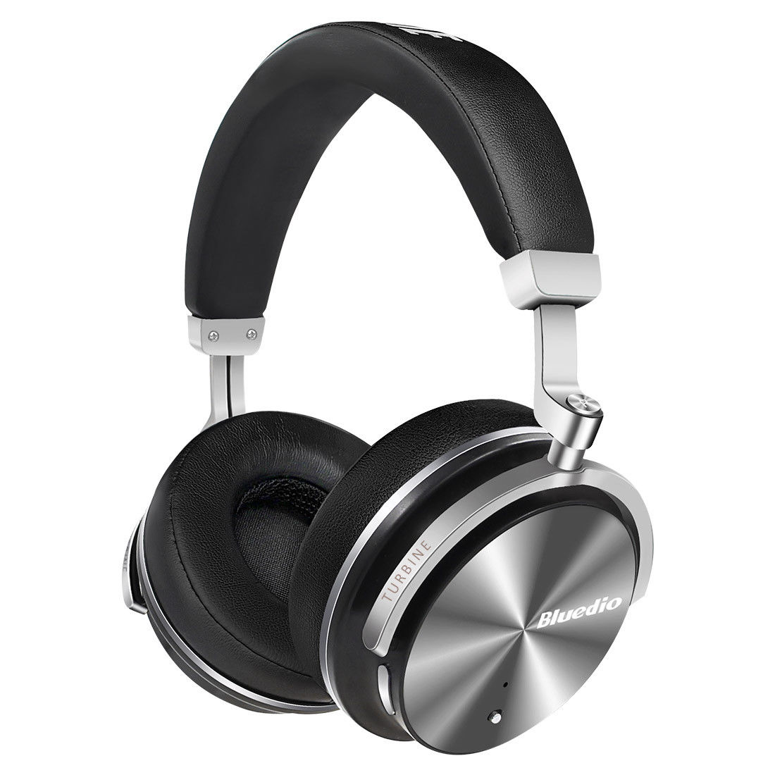 Bluedio T4s Active Noise Cancelling Bluetooth Headphones Over Ear with Mic Wireless Headset Black by Bluedio