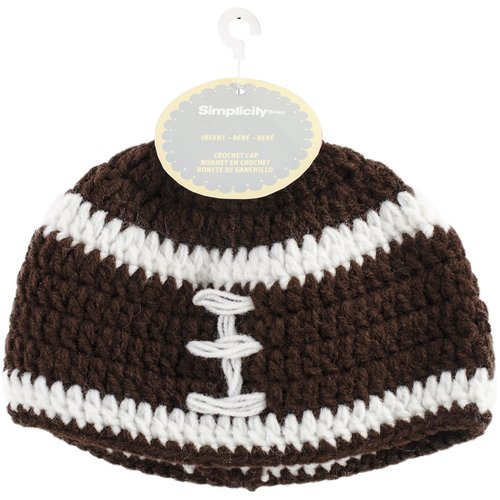 Crocheted Hats For Babies, Football