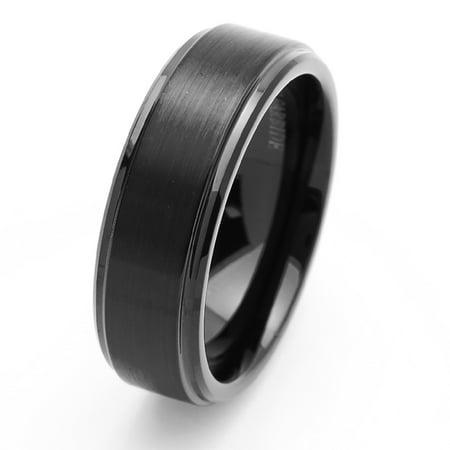 Bevel Tungsten Rings Bands (Free Engraving Men Women Personalized Inside Engraving Tungsten Carbide Wedding Band Ring 8mm Beveled)