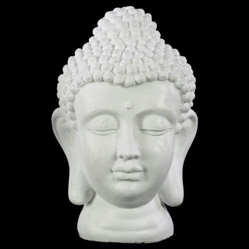 Urban Trends Cement Buddha Head Bust