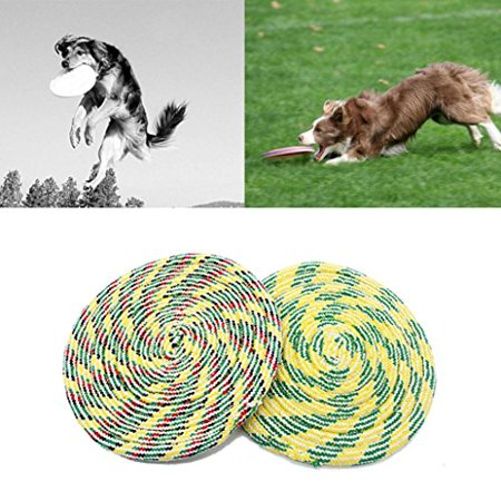 Coohole Pet Dog Play Frisbee Knit Flying Disc Tooth Resistance Training Fetch Chew Dog Cat Toy