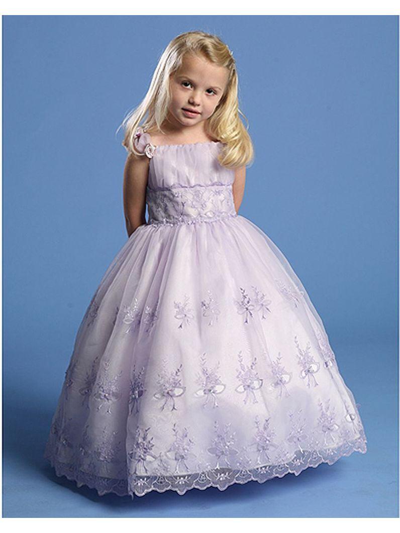 Angels Garment Toddler Girl 4T Lilac Criss Cross Tie Back Dress