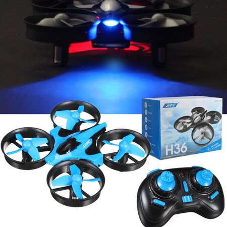 JJRC H36 Colorful LED light Remote Mini Drone RC Quadcopter 2.4GHz 4CH 360° 3D Flips 6 Axis Gyro Headless Mode/Speed for Kids Beginners Gift