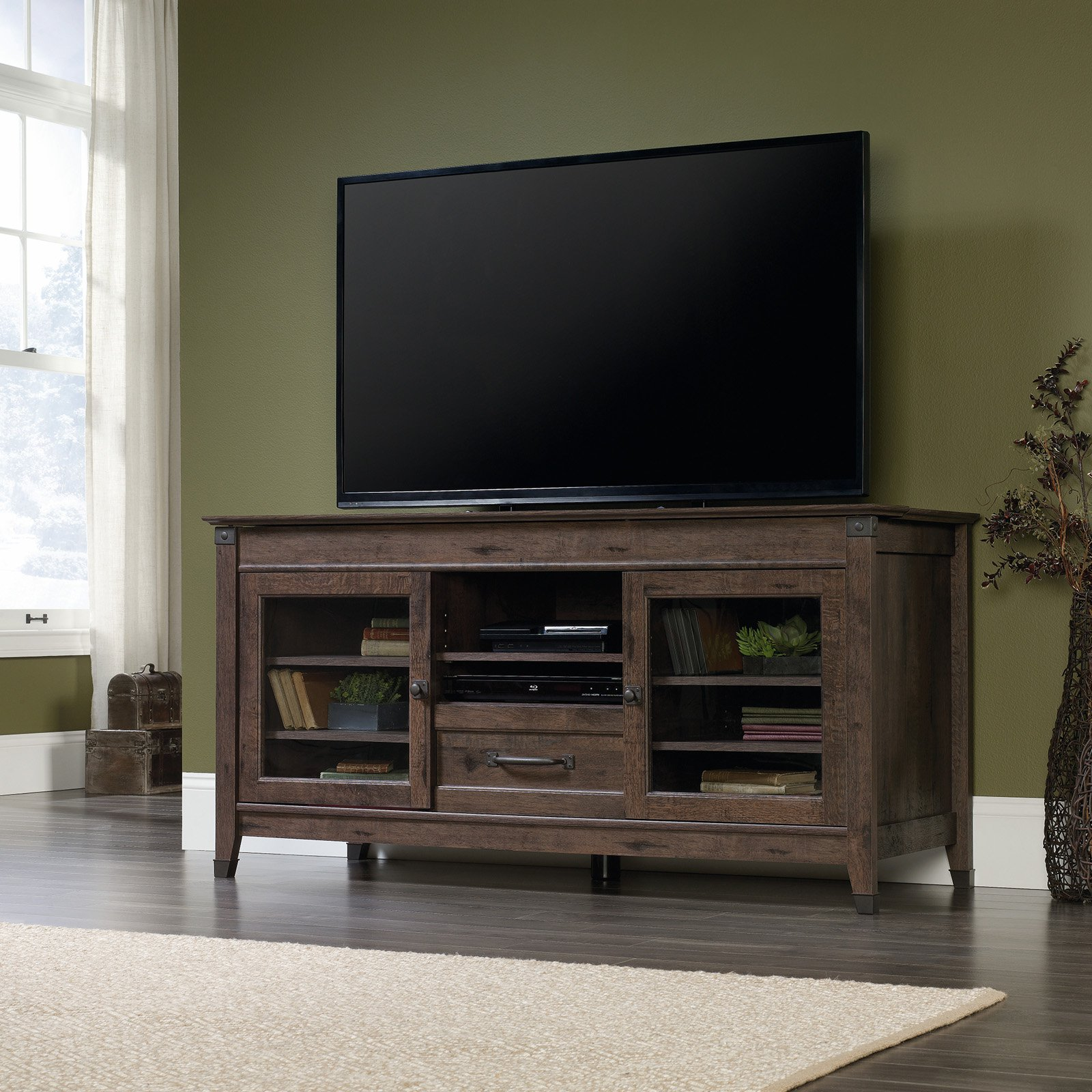 Sauder Carson Forge Entertainment Credenza for TVs up to 60\ by Sauder Woodworking
