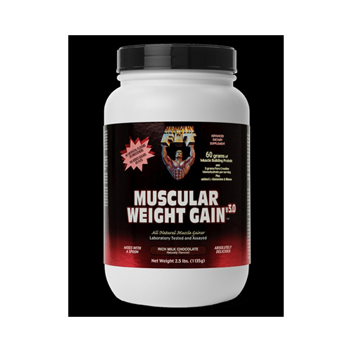 Healthy n fit nutritionals Muscular Weight Gain 3 Chocolate Powder, 2.5 lb