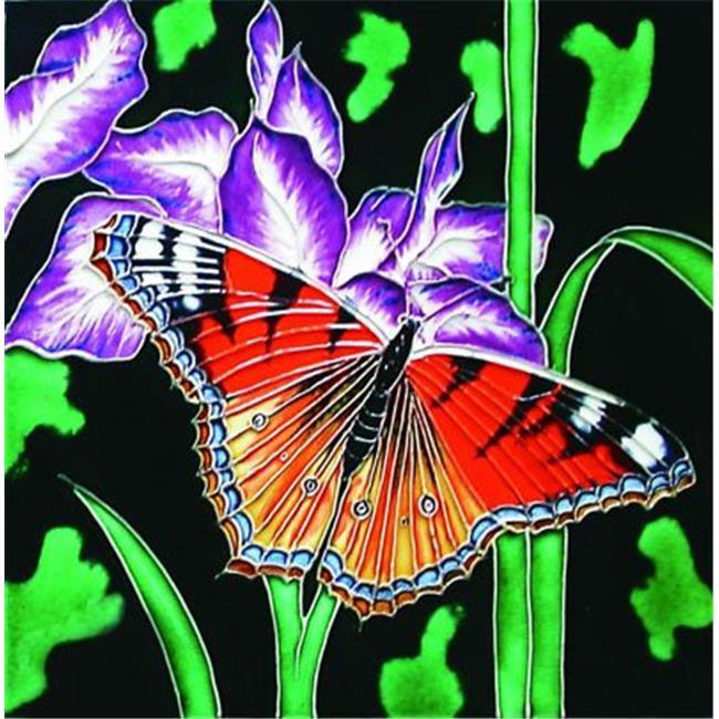 8 in x 8 in. Decorative Ceramic Art Tile En Vogue B-214 Dragonflies