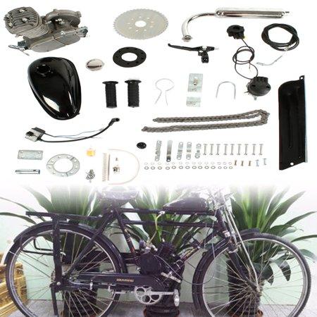 Ktaxon 50cc Powerful Pull Start 2-Stroke Cycle Motor Engine Gas Kit Motorized Bike Petrol Gas Bicycle (Best Bike Engine Kit)