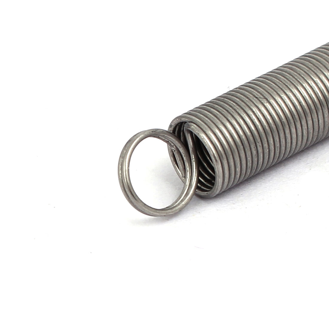 0.6mmx7mmx300mm 304 Stainless Steel Tension Springs Silver Tone 2pcs - image 2 of 3