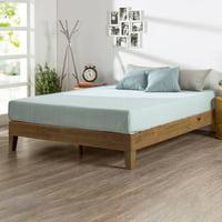 """Zinus Alexis 12"""" Deluxe Solid Wood Platform Bed, Queen"""
