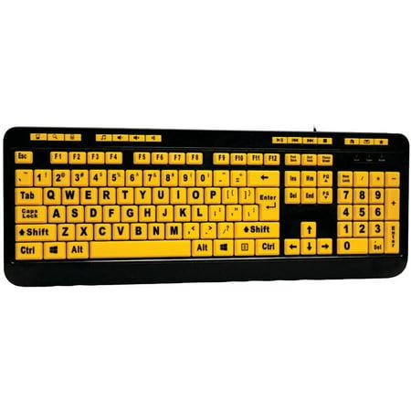 Adesso Akb 132Uy Easytouch 132 Luminous Large Print Desktop Keyboard