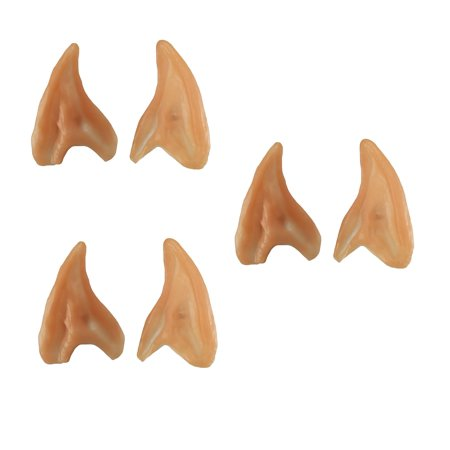 3 Pack Small Elf Ears Pointed Ear Tips Alien Spock Costume Accessory Fairy](Spock Ears Halloween)