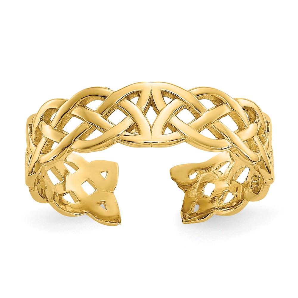 14K Yellow Gold Celtic Knot Toe Ring
