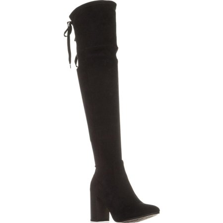 - Womens ESPRIT Viola Over The Knee Back Lace Boots, Black
