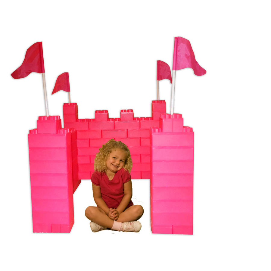 Jumbo Blocks Castle Playhouse 104-Piece Play Set by Serec Entertainment, LLC.