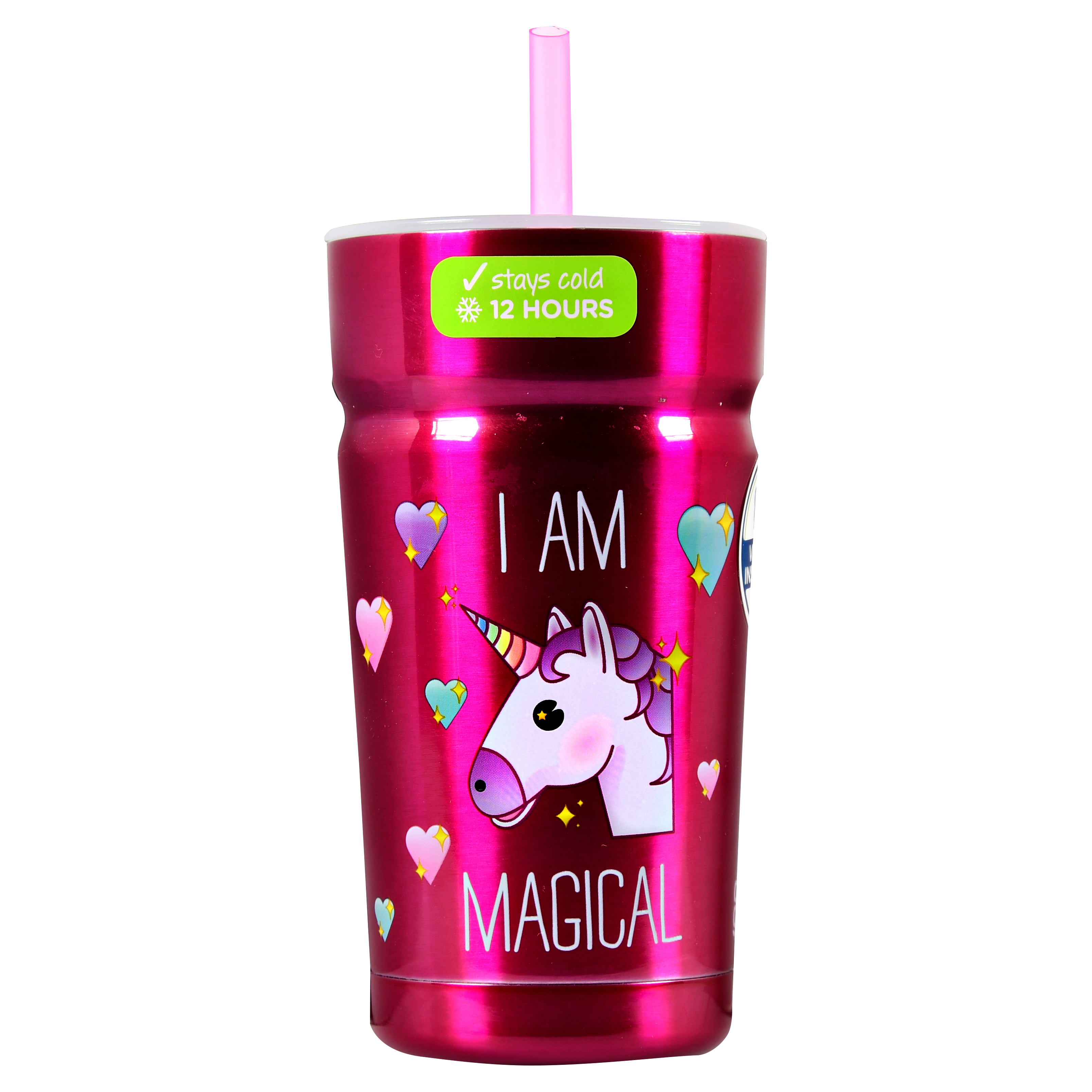 Cool Gear, I am Magical, Unicorn, 12 oz Stainless Steel Tumbler by