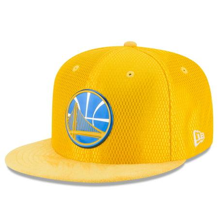 Golden State Warriors New Era NBA On-Court Original Fit 9FIFTY Adjustable Hat - Gold - OSFA