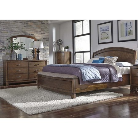 Avalon Set Bed (Liberty Furniture Avalon III 3 Piece King Panel Storage Bedroom Set)