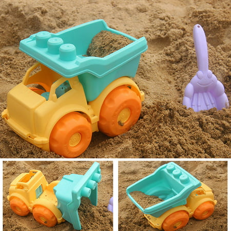 Beach Toys Set for Kids Toddlers 13pcs Beach Sand Toy Set Including Sand Truck, Watering CanBeach Molds, Beach Bucket, Beach Shovel Tool Kit, Sandbox Toys Toddlers