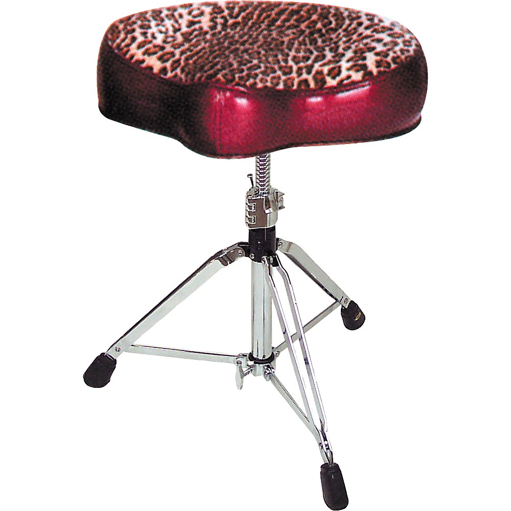 Pork Pie Big Boy Bicycle Throne Red with Leopard Top