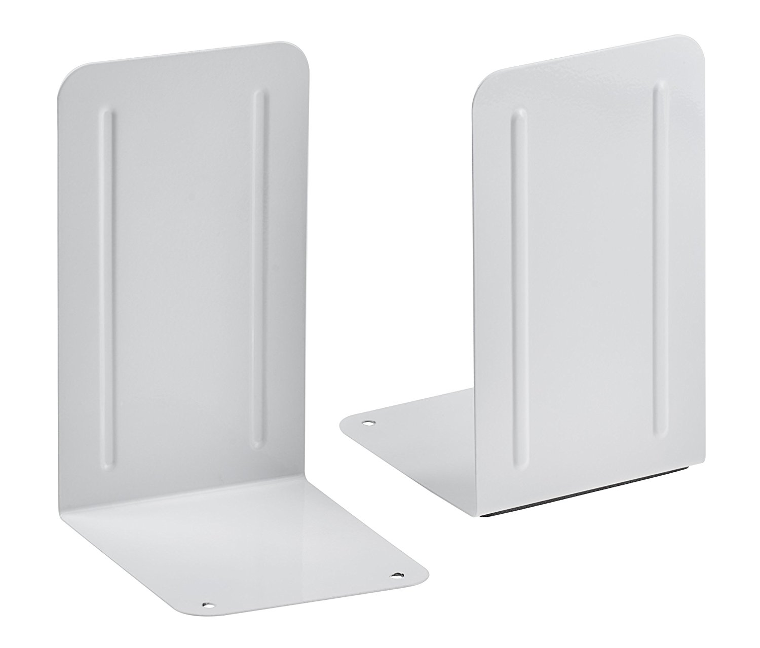 Acrimet Premium Bookend (White Color) (1 Pair Pack) by ACRIMET