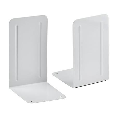 Acrimet Premium Bookend (White Color) (1 Pair Pack)