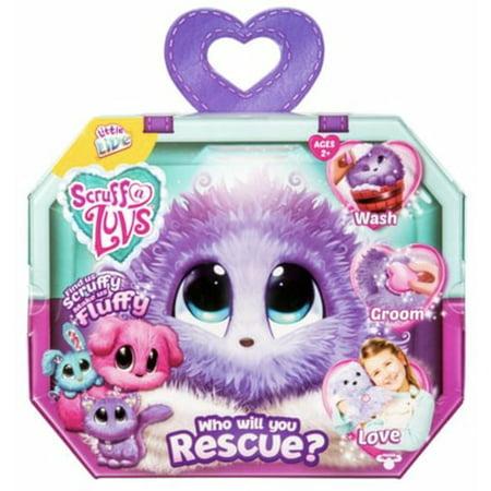 Scruff A Luvs Purple Rescue Toy Pet Dog, Cat or Rabbit Worlds Apart ()