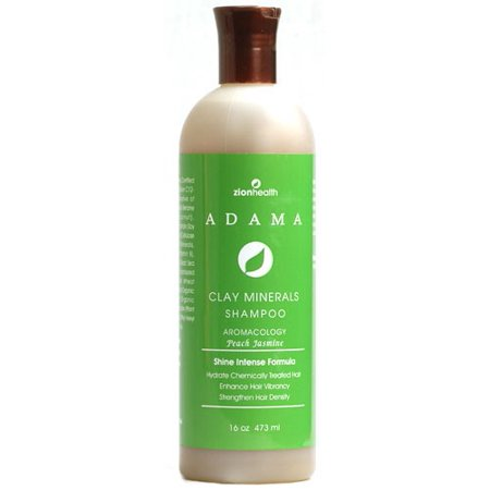 Zion Health Adama Clay Minerals Shampoo, Peach Jasmine, 16 Fl Oz