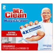 Mr. Clean Magic Eraser Extra Durable, Cleaning Pads with Durafoam, 2 count
