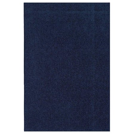 14 French Red Rubber (Color World Collection Way Pet Friendly Area Rugs Navy -)