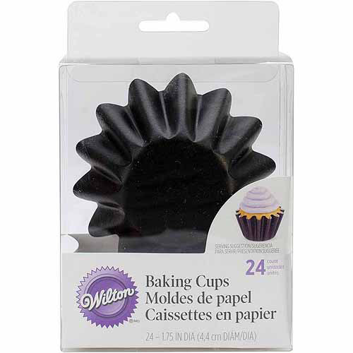 Wilton Wave Standard Baking Cup Liner, Black 24 ct. 415-0672