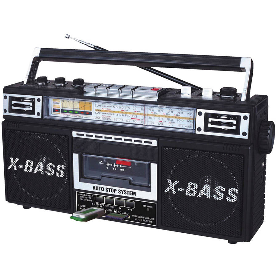 QFX Retro Collection Boom Box, Black